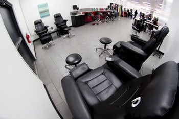Salon chairs at Kenneth Shuler Greenville