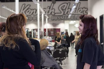 Cosmetology students posing for picture
